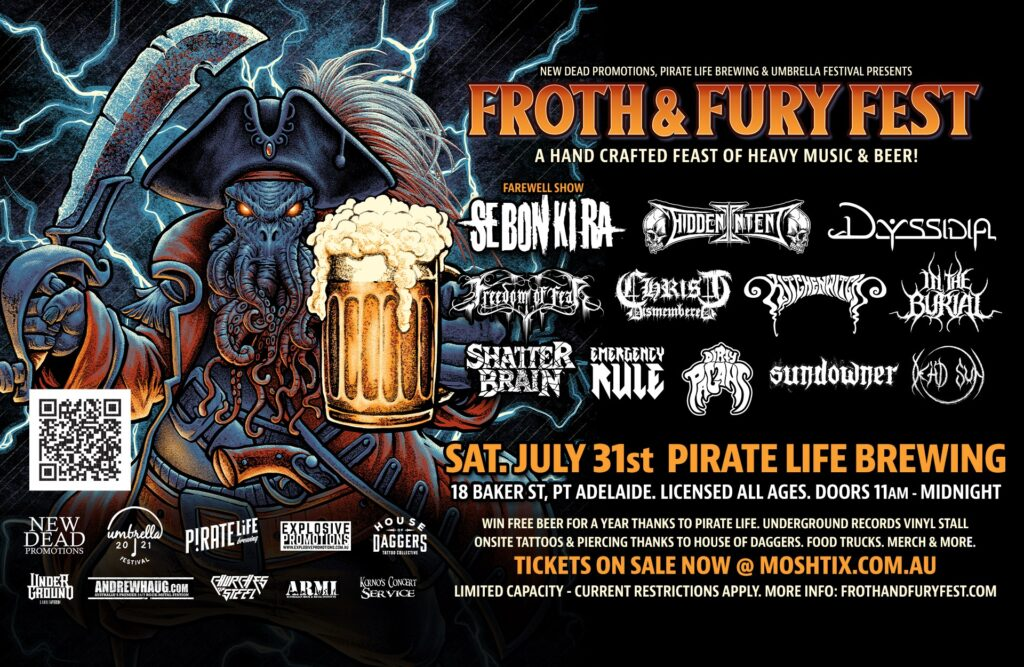 FROTH & FURY FEST – Massive Adelaide gig announcement.