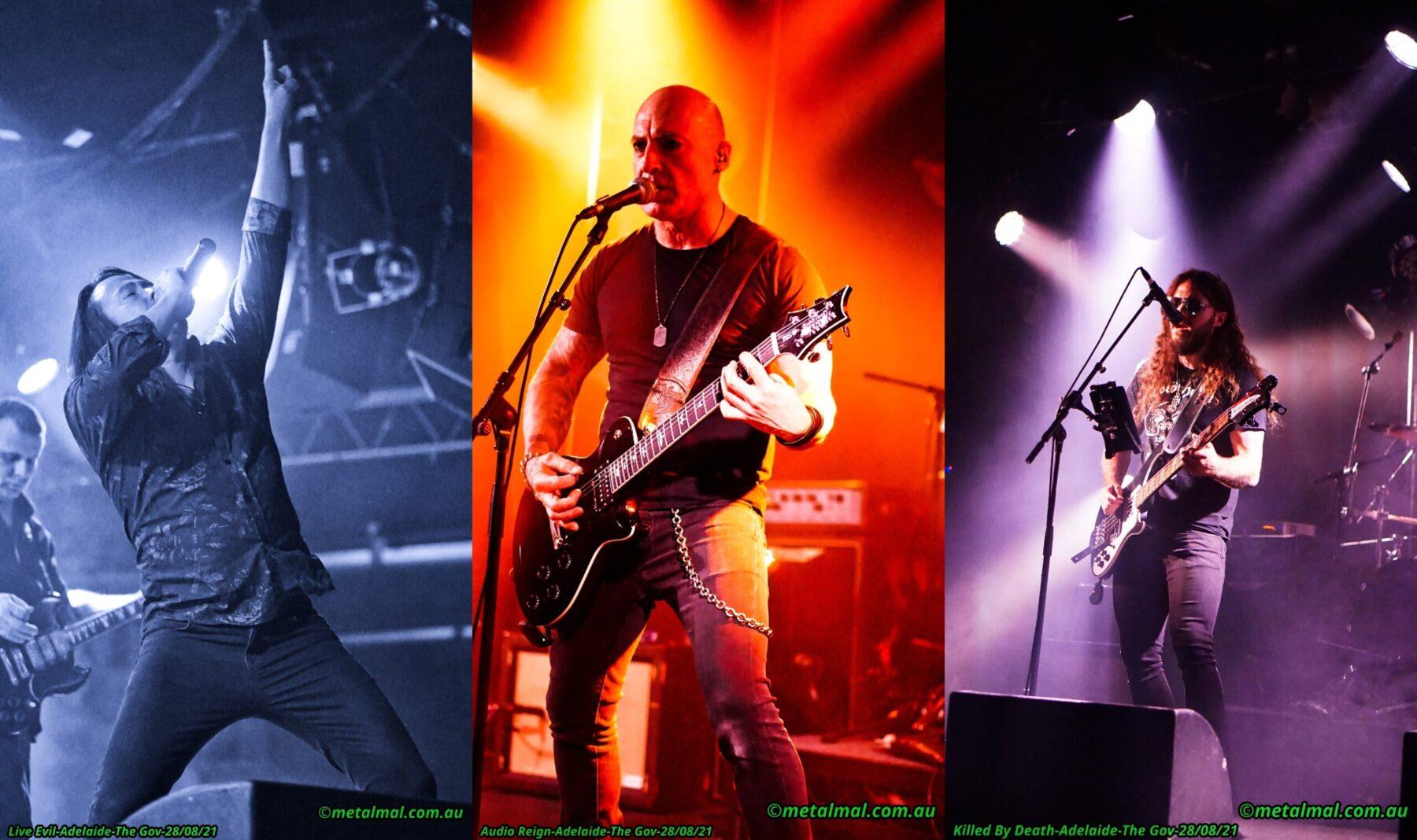 LIVE EVIL / AUDIO REIGN / KILLED BY DEATH gig photos.