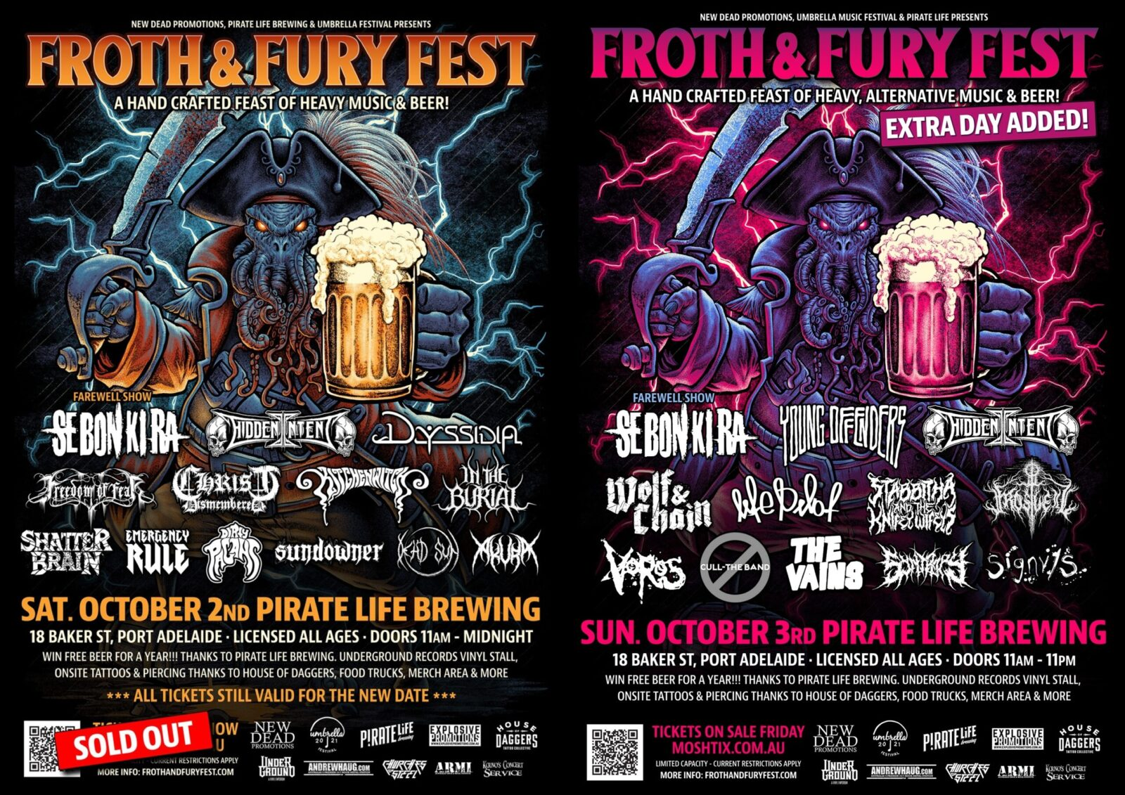 FROTH AND FURY FEST – extra day added.